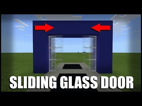 How To Make A Sliding Glass Door In Minecraft Command Block