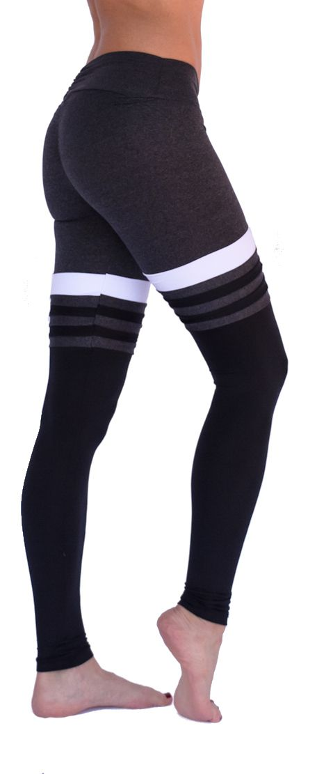 Mia Brazilia Charcoal-Black Baseball Legging