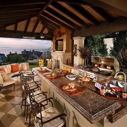 Best 25 outdoor kitchens ideas on pinterest backyard for Indoor outdoor kitchen designs