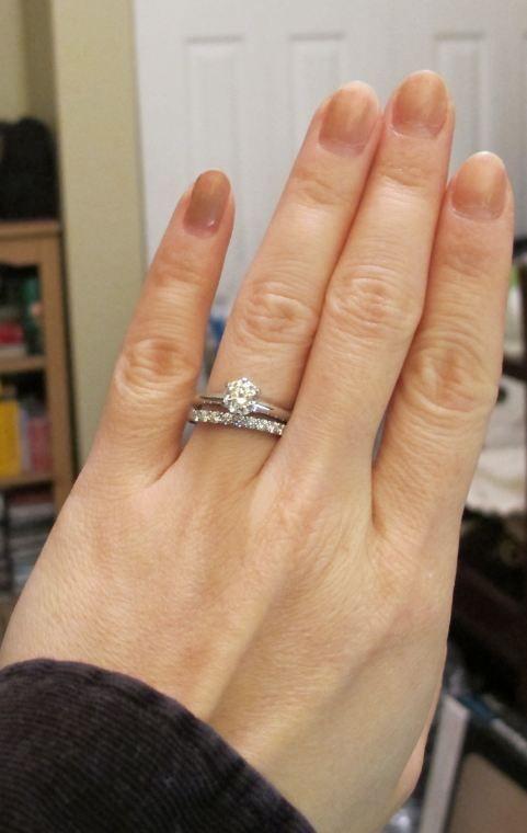 Tiffany Setting, 78 Ct On Size 5 Finger  Engagement -8228