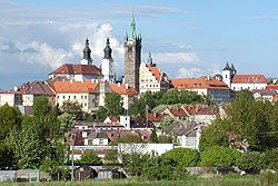 View from the suburbs Domažlický. Klatovy Bohemia