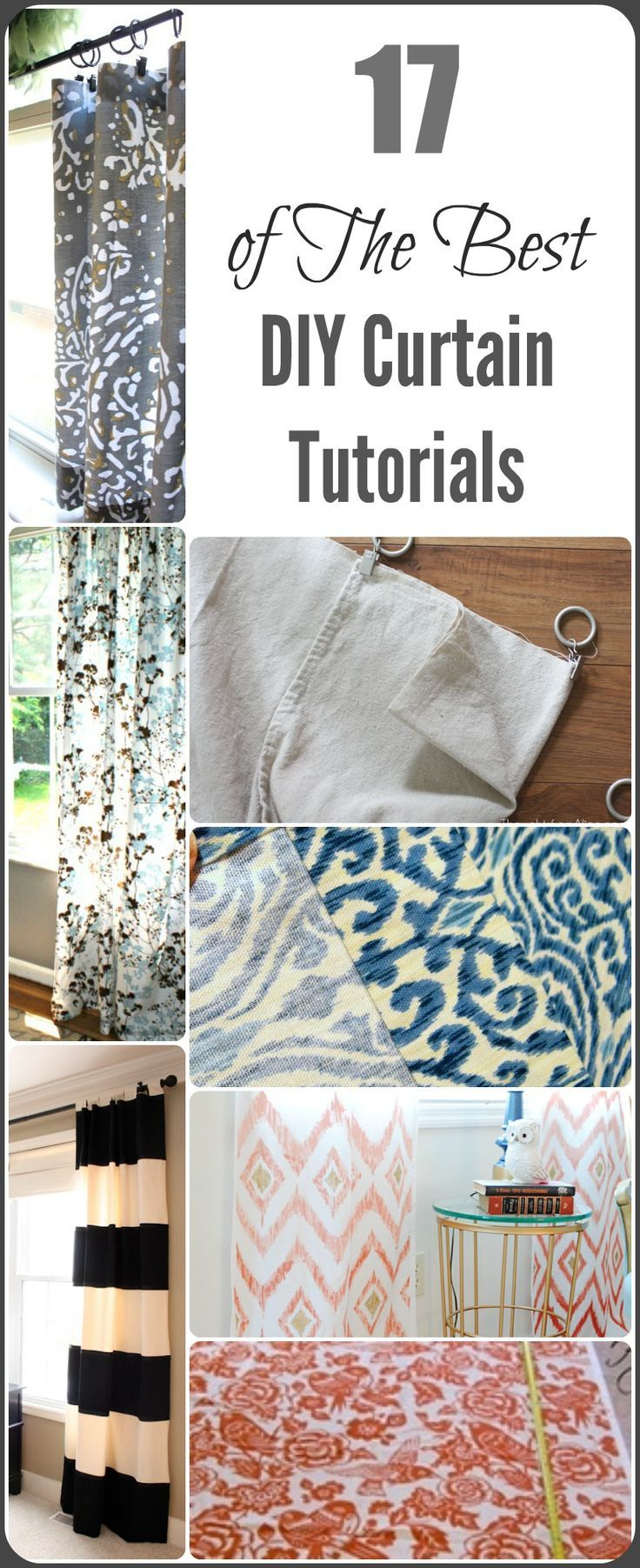 DIY Curtain Ideas and Tutorials. 25  unique Diy curtains ideas on Pinterest   Sewing curtains  How