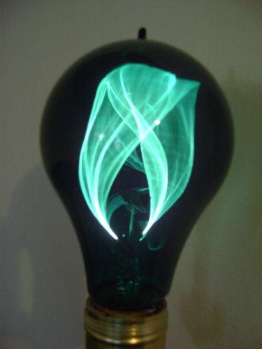Vintage Balafire Flicker Flame Light Bulb - Emerald Green ...