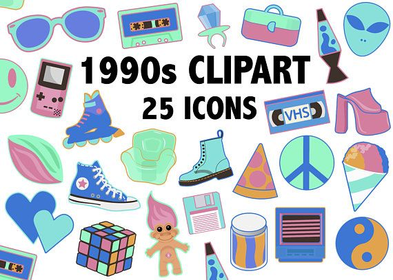 1990 S Clipart Neon Colors 90s Toys Fashion And Objects