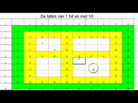 De tafels van 1 tot en met 10 - YouTube