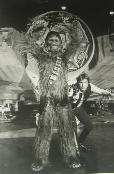Han Solo and Chewbacca