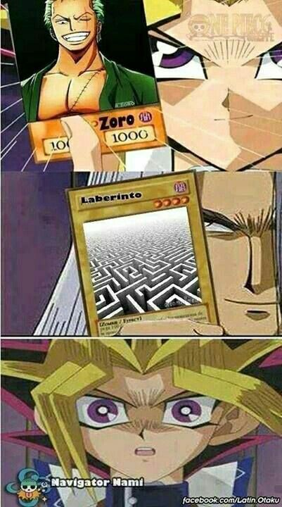 Direction is the card's only weakness . Do you understand? I understand. It mean Zoro don't know how to get out of maze