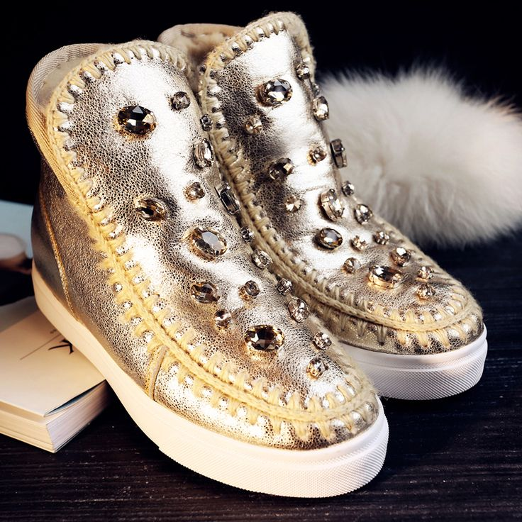 Find More Women's Boots Information about CROWN Genuine Leather Rhinestone Decorative botas mou women's winter snow boots,High Quality leather fringe boots,China boot work Suppliers, Cheap leather vinyl from Crown Shoes on Aliexpress.com: