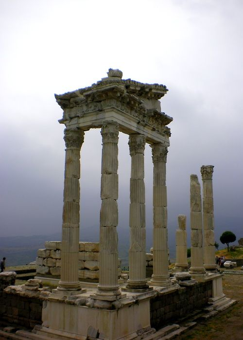 Pergamon Acropolis, near Bergama, in Izmir, Turkey.