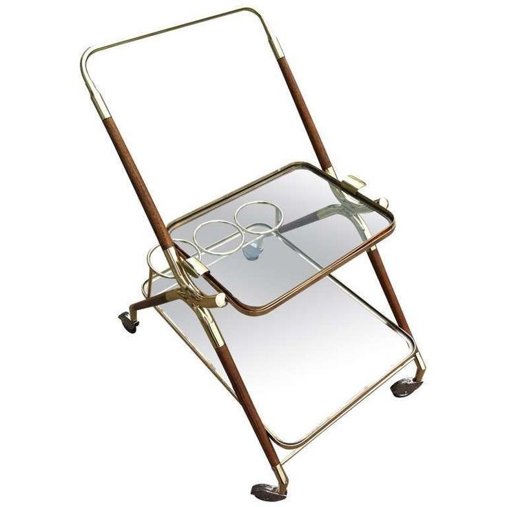 French 1950s Hotel Serving Cart For Sale at 1stdibs