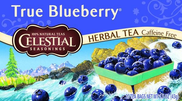Celestial True Blueberry Herbal Tea - $4.95  This product contains all-natural herbs and flavors, and no artificial colors or preservatives.