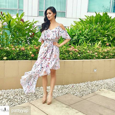 @Regrann from @pattyyap -  Chinita Princess attended her first Garden wedding!:) Makeup: @jakegalvez  Hair: @ariesmanal_hair   #StyledByPattyYap