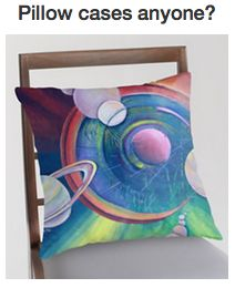 Astrology Designer Pillow, and other products. #astrology #planets #pillows #astrologyclasses #astrologers #horoscopea #paintings #art