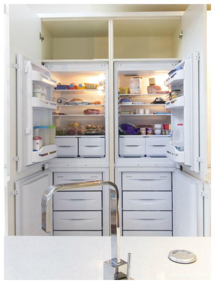 Integrated 50/50 Fridge Freezers - huge refrigeration space!