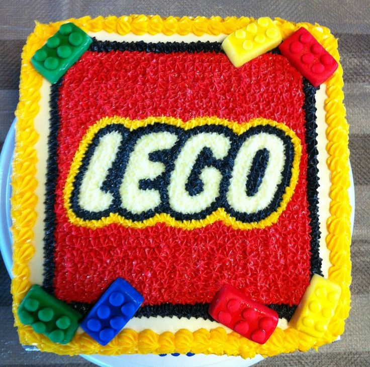 square lego cake with lego logo Google Search Lego
