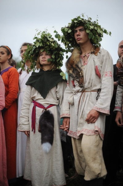 Kupala Night in Russia  Every year Russia celebrates the oldest Slavic holiday, the Kupala Night. This celebration has its roots in paganism and relates to the summer solstice. On June 23-24, the Kaluga region once again revived the ancient pagan rituals of their Slavic ancestors, dancing in circles, singing special ritual songs, cooking traditional meals, jumping over bonfires and floating wreaths of flowers on the water.