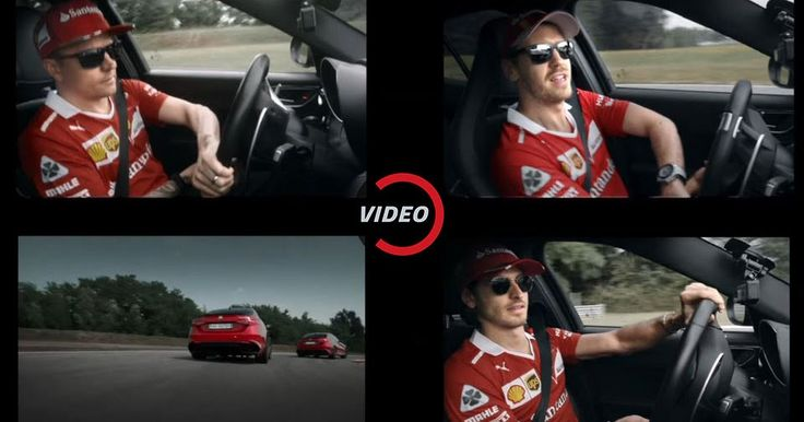 Scuderia Ferrari Drivers Give Alfa Romeo Giulia QV A Thrashing #Alfa_Romeo #Alfa_Romeo_Giulia