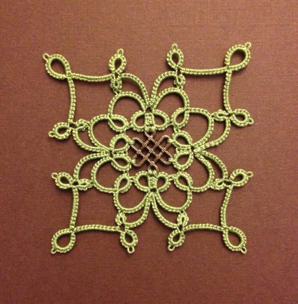 "ABy Baysolomew: ""square medallion with filigree finding. I designed this with the help of drawings I made on my iPad."" Pattern here: https://drive.google.com/file/d/0B8R5ZNar0YDdVEtMbFp2N2kwMGM/edit?usp=sharing"