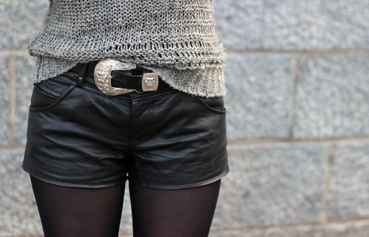 Short cuir Urban Code & ceinture Asos  http://www.l-autruche.com/