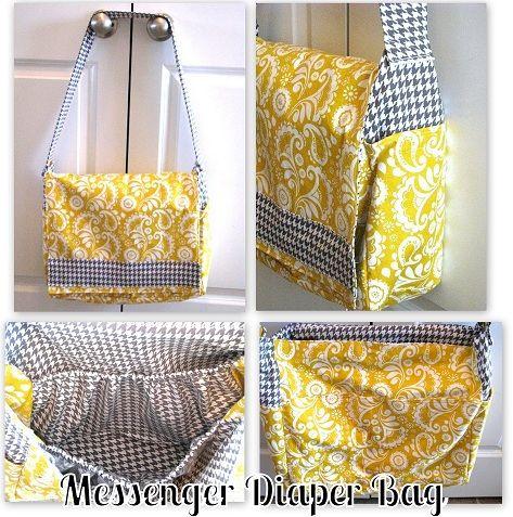 Diaper bagMessenger Bag Tutorials, Bags Tutorials, Diaper Bags, Diapers Bags, Messenger Bags, Bags Pattern, Diy Messenger Bag, Messenger Diapers, Diy Diapers