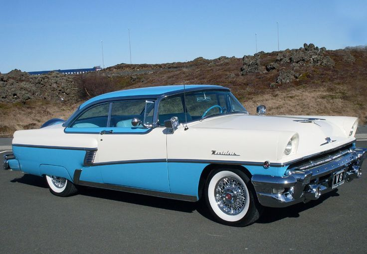 1956 Mercury Montclair Hardtop Coupe. Blue over White over Blue.