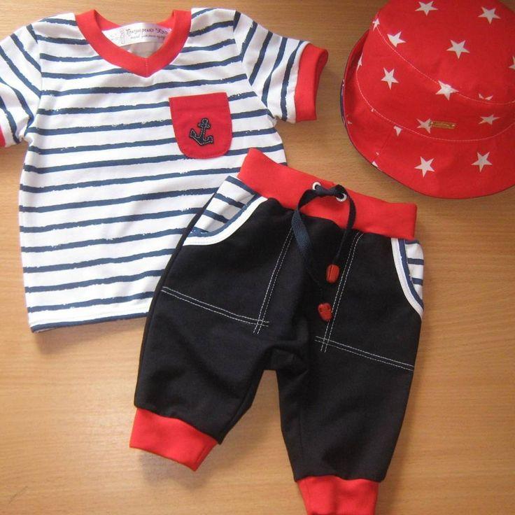 6 вподобань, 2 коментарів – Пошив дитячого одягу (@ulia_ponomarenko_) в Instagram: «Костюмчик в морському стилі - футболка, шорти і панамка - самий модний карапуз 👓 тканина хлопок з…»