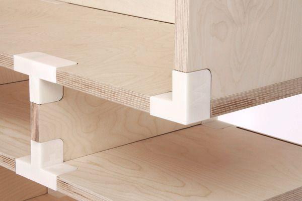 Tobias Lugmeier's flush 3D printed connectors - detail