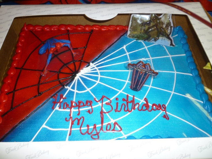 D Spiderman Birthday Cakes
