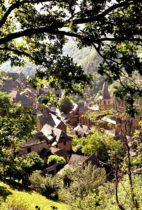Pyrenean Valley Villege in Conques, France