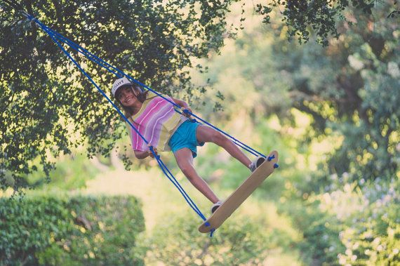 Sk8Swing - The original Skateboard swing (Now with FREE shipping) - Handmade in California. Perfect  treeswing or for a swing-set