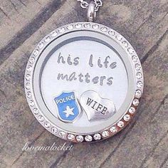 Police Wife Floating Locket, Police Wife Necklace, Police Wife Jewelry, Police Wife Gift, Cop Wife Necklace, Cops Wife Locket, Cop Wife Gift by Loveinalocket on Etsy https://www.etsy.com/listing/255205604/police-wife-floating-locket-police-wife