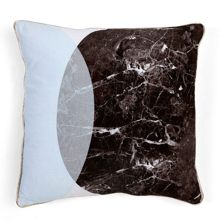 Black Marble Eclipse Cushion | Cushions & Throws | Homeware - Me and My Trend