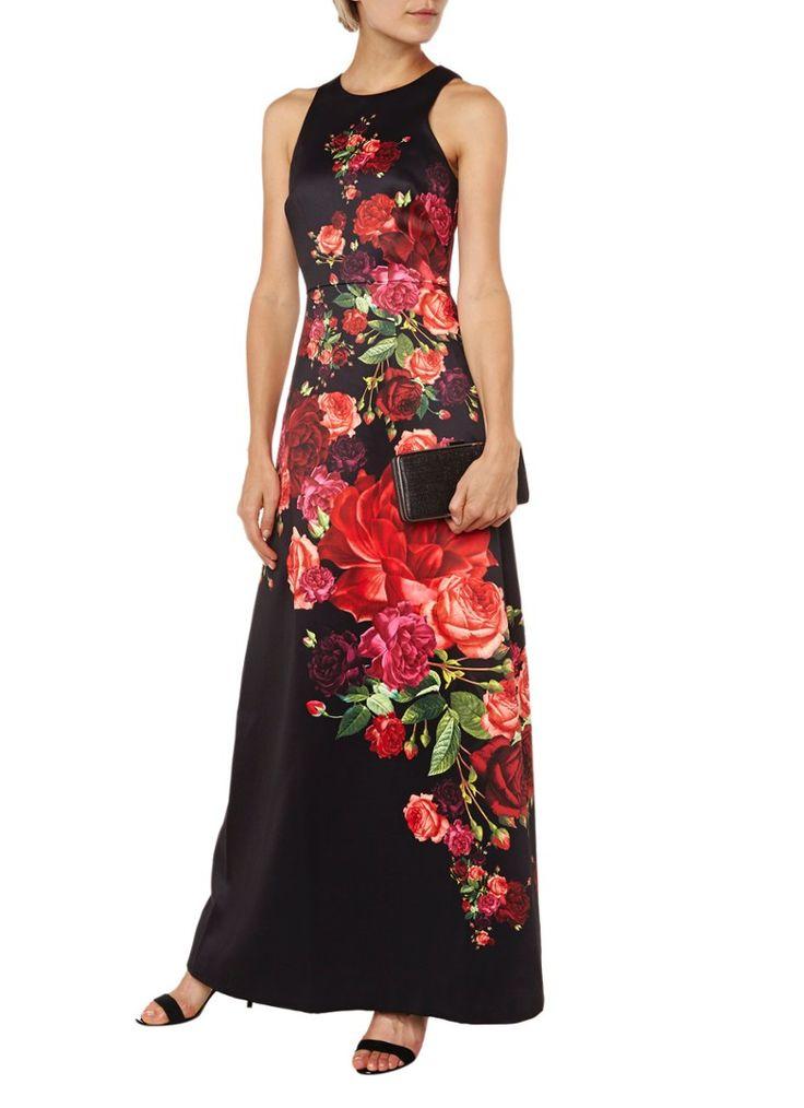 Ted Baker Marico maxi-jurk met bloemendessin • de Bijenkorf
