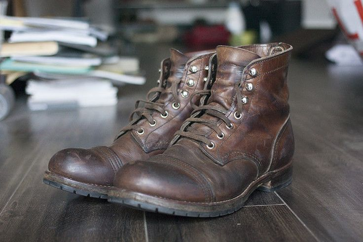 Red Wing Iron Rangers With Flat Laces And Commando Resole