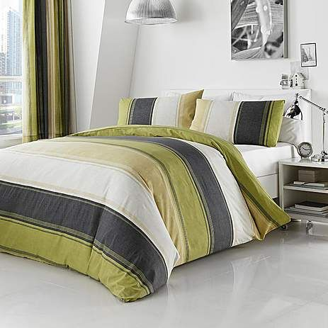 Green Finley Bed Linen Collection | Dunelm