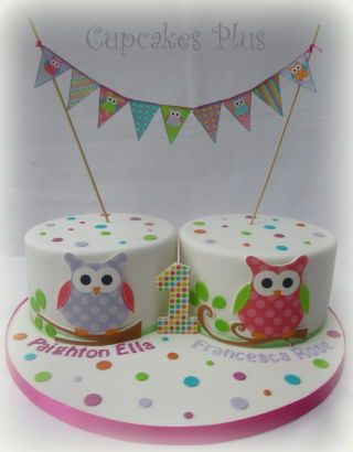 Birthday cakes for twins!