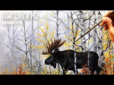 Beginner Learn to paint a Landscape Full acrylic for Fall /Autumn lovers - YouTube