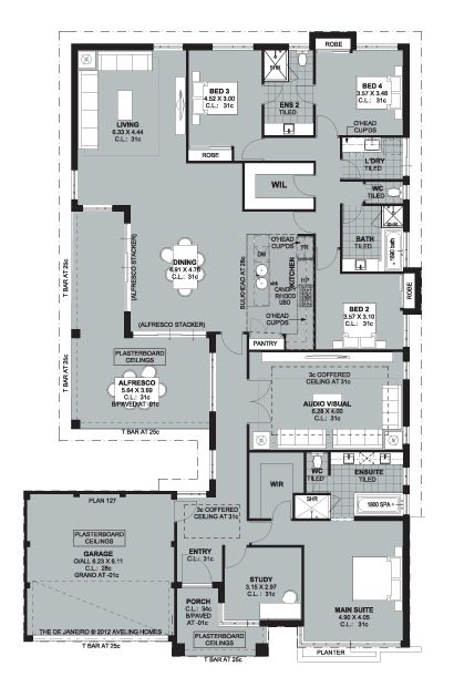 Aveling Homes Luxury Collection presents The De Janeiro - Floorplan