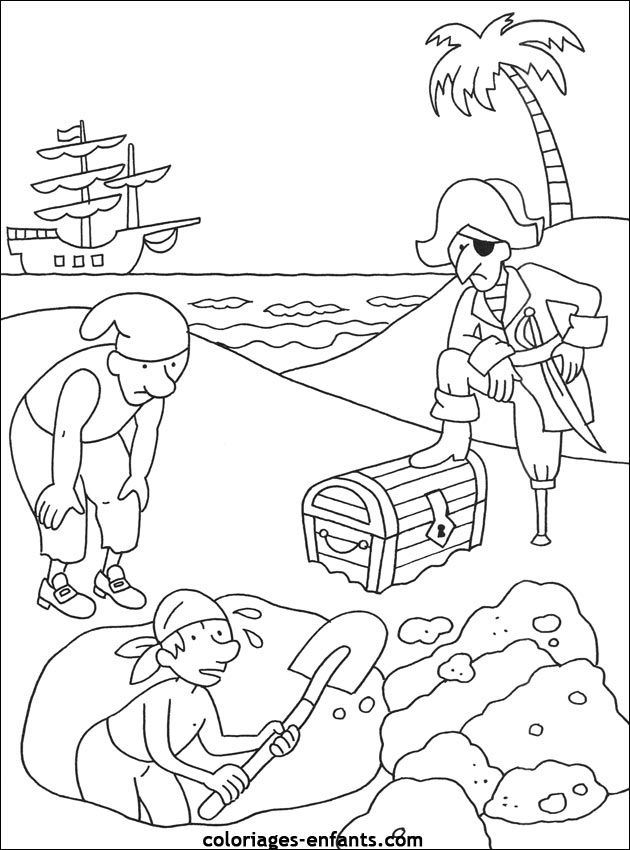 Les coloriages de pirates