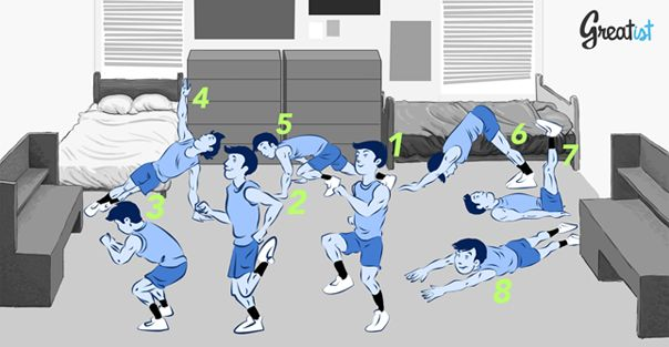 8 Bodyweight Exercises for Any Dorm RoomSmall Room, Dormroom