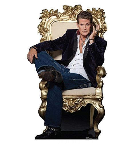 """David Hasselhoff - Advanced Graphics Life Size Cardboard Standup:   This cardboard cutout of David Hasselhoff stands at a size of 64"""" x 38"""". David Hasselhoff is an American actor that acted in many TV shows, but is most known for the 1989 hit series, Baywatch. Bring home this Hollywood legend with you today! Purchase this standup now! How to Set Up Your Standup: 1. Unfold standup and easel. Lay standup face down on a clean, flat surface. 2. Fold easel up along the long vertical crease..."""