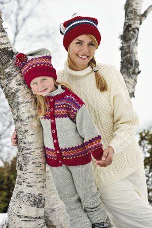 1011: Modell 7&8 Jakke, lue, bukse, arangenser og lue #strikk #knit #fjells
