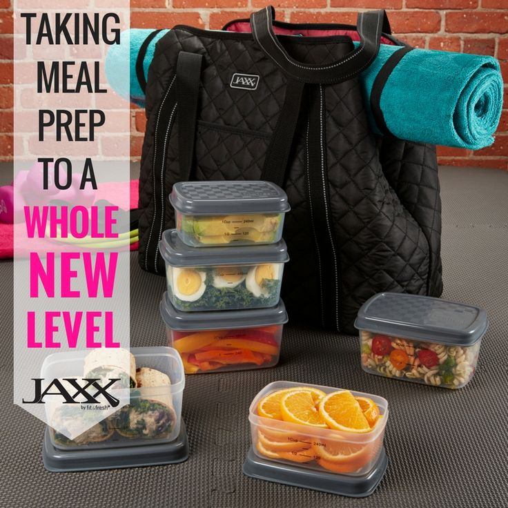 Jaxx Fitness is taking meal prep to a whole new level with this new meal prep and yoga bag. Comes with potion control containers, ice packs & more!