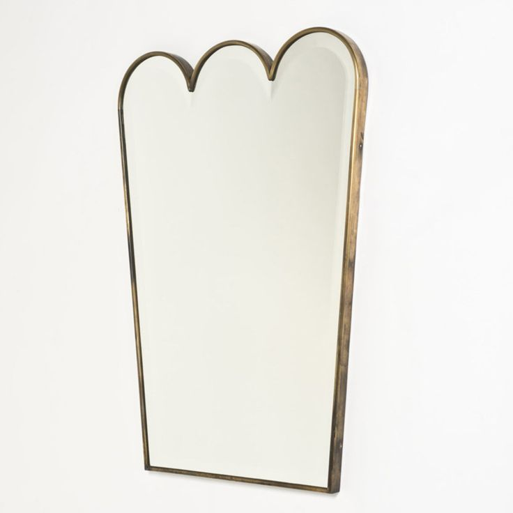 Anonymous; Copper and Glass Wall Mirror by Fontana Arte, 1930s.