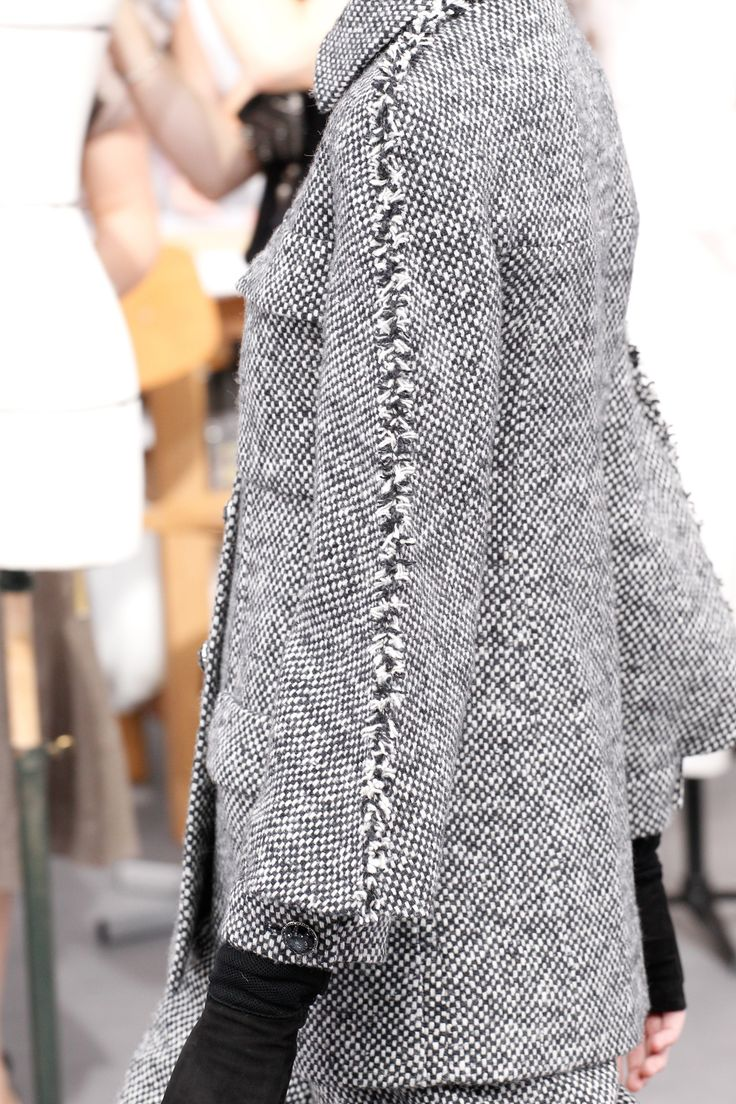 Interesting sleeve details, fabric is similar to previous jackets as well