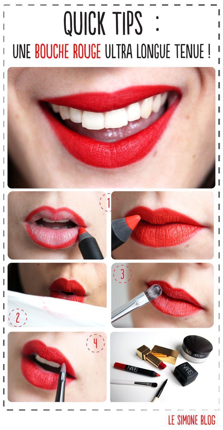 Quick Tips Bouche rouge qui tient Rouge à lèvres qui tient: