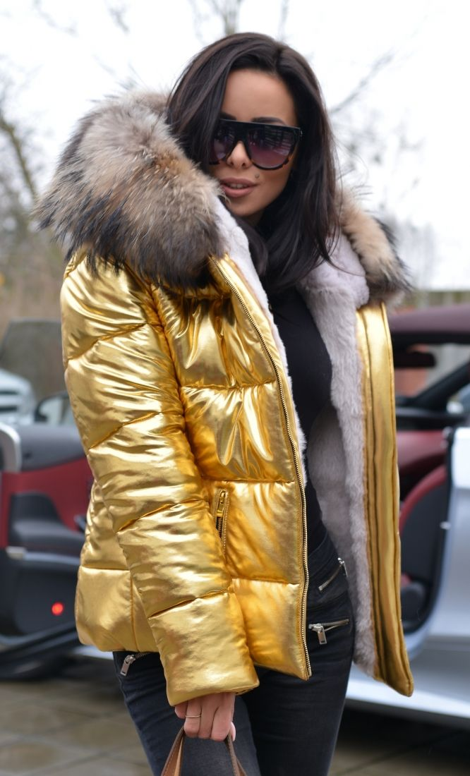 american parka with fur - amazing gold jacket with fur 2017/2018