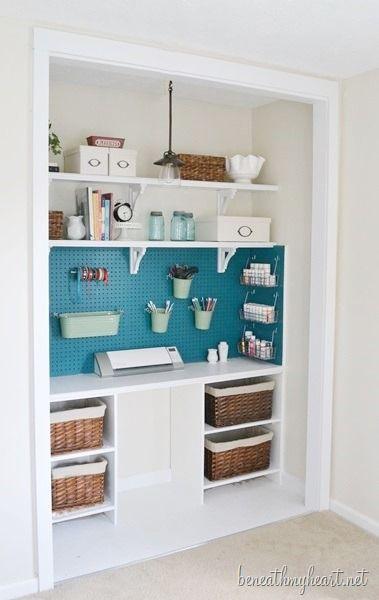 I LOVE this craft closet makeover