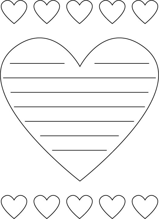 heart shaped printable paper grade 3 ideas pinterest valentines coloring and paper. Black Bedroom Furniture Sets. Home Design Ideas