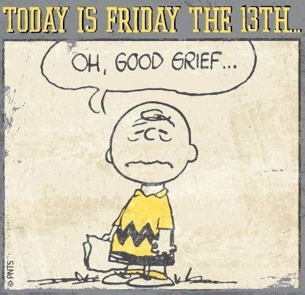 Friday the 13th Peanuts cartoon via www.Facebook.com/Snoopy